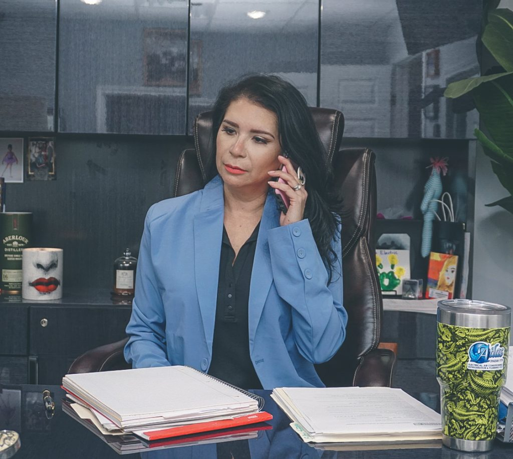 Sarah Sagredo Hammond on her office desk